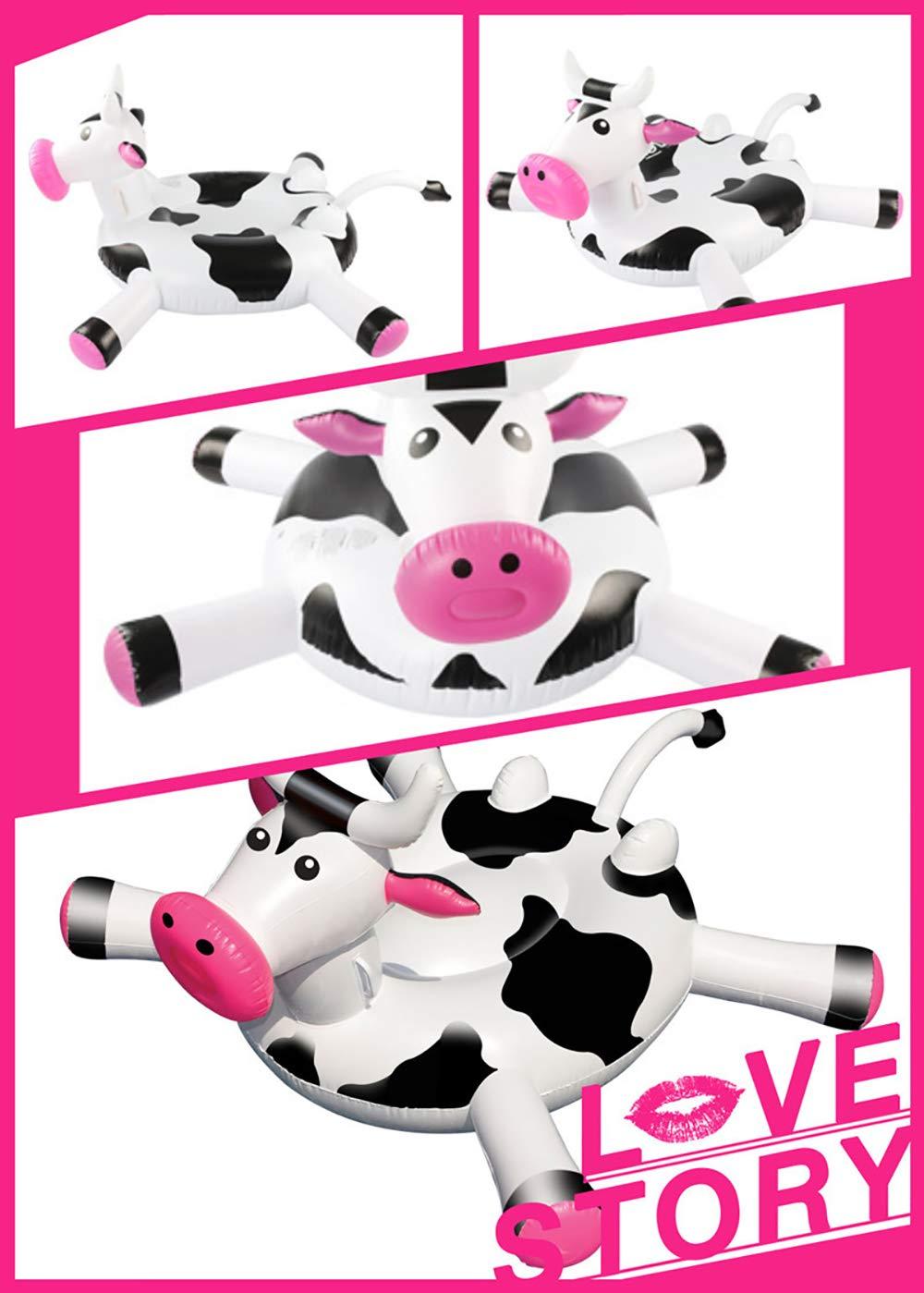 PinkDreamland Bola de Flotador de la Piscina, Juguete Inflable de la Cama Flotante de la Vaca (170 x 140 x 90 cm): Amazon.es: Hogar