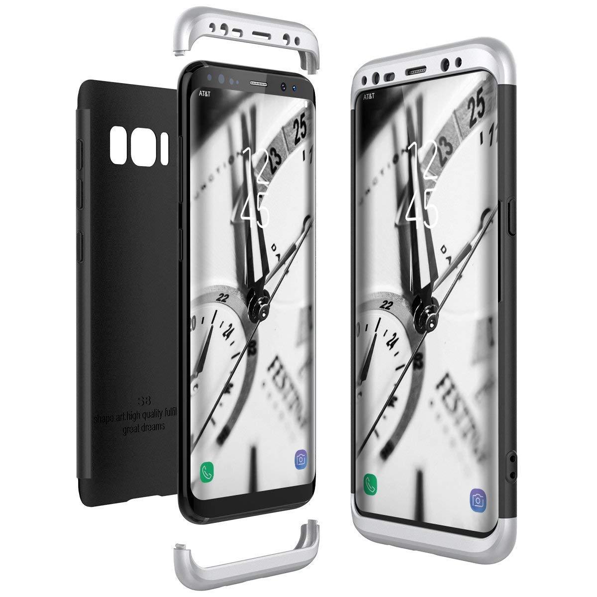 Samsung Galaxy S8 Plus Hü lle, Samsung Galaxy S8 Hü lle 3 in 1 Ultra Dü nner PC Harte Case 360 Grad Ganzkö rper Schü tzend Anti-Kratzer Schutzhü lle