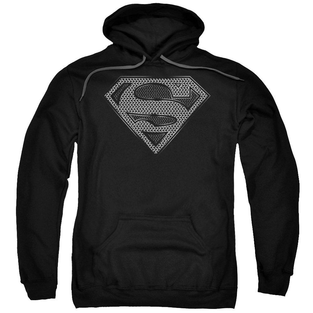 Superman Dc Comics Chainmail Shield Logo Adult Pullover Shirts
