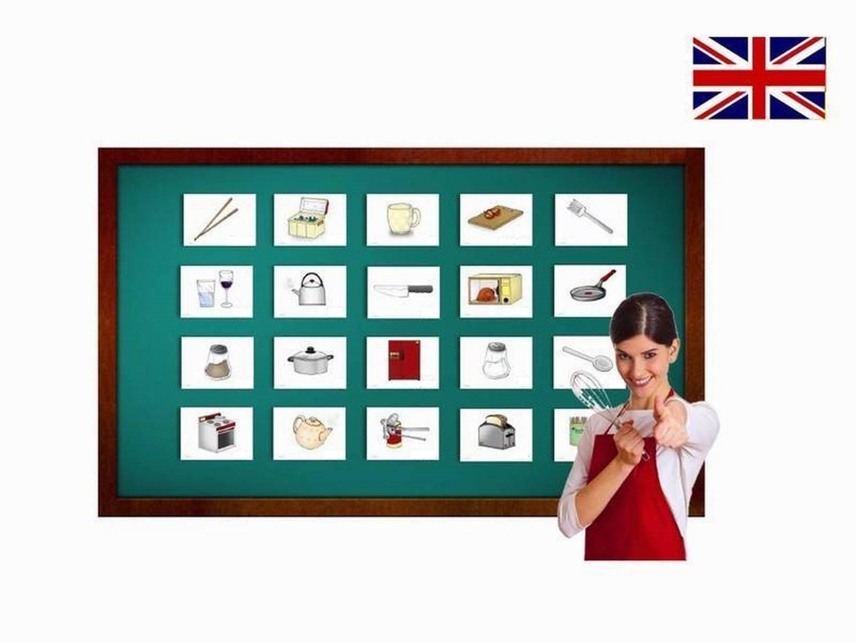 Amazon.com: Kitchen Utensils Flash Cards in English - Vocabulary ...