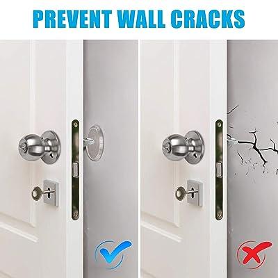 Door Stopper Wall Protector White Wall Door Stopper 6 Pack Cabinets Door Silicon Wall Protectors Self-Adhesive Door Handle Bumper Guard Protects Wall Refrigerator Door