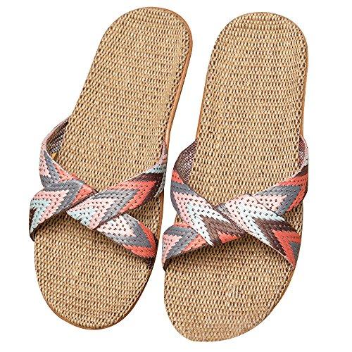 Piatte Casuali Sandali Piscina Lino Eizur da Pantofole Scarpe spiaggia Aperta Doccia Punta Ciabatte Tipo Antiscivolo 3 da Scarpe Ciabatte Scarpe CAC8pq