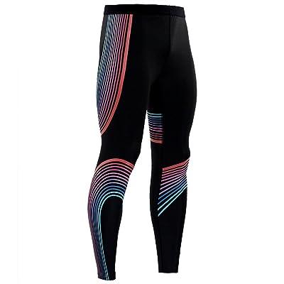 NATURET Cool Dry Compression Pants Men's Sports Rreflect Light Leggings Baselayer Running Tights