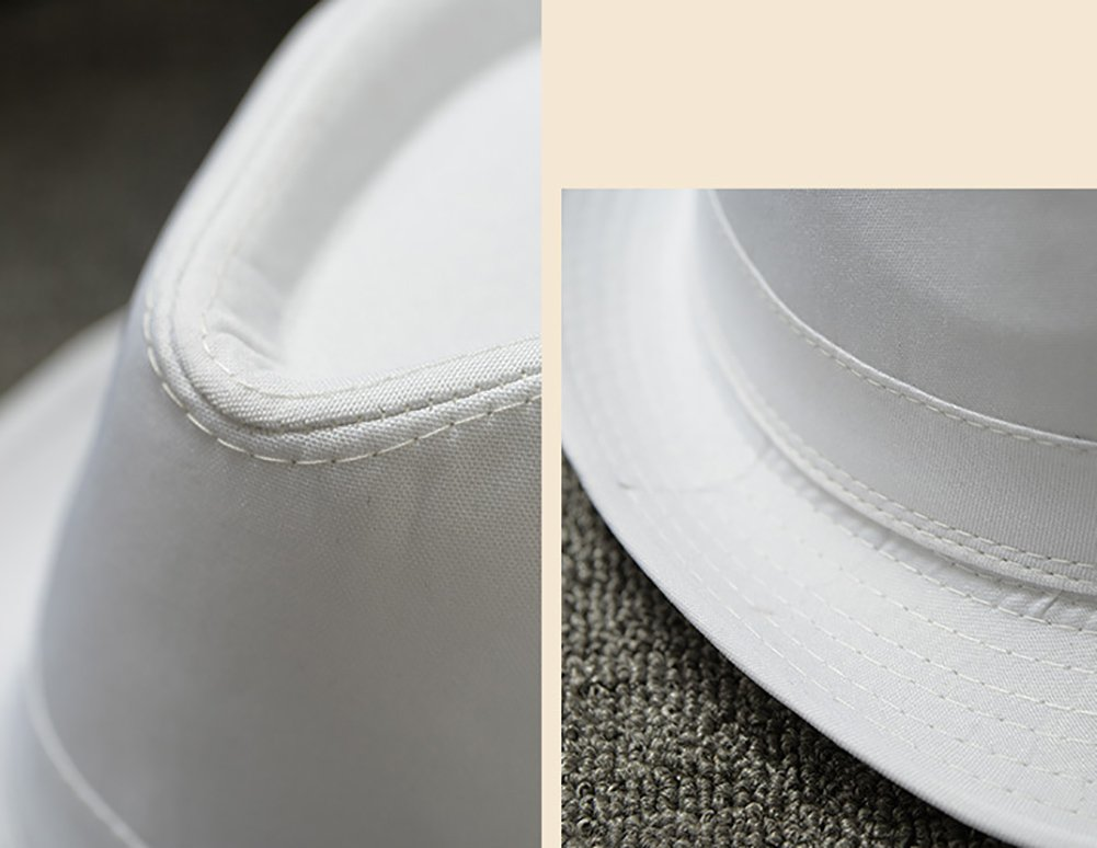 Dosige Sombrero de jazz Blanco tapa de color s/ólido,Cap para Hombres,Sombrero de Panam/á,Gorro informal,Sombrero de paja al aire libre size 56-58CM