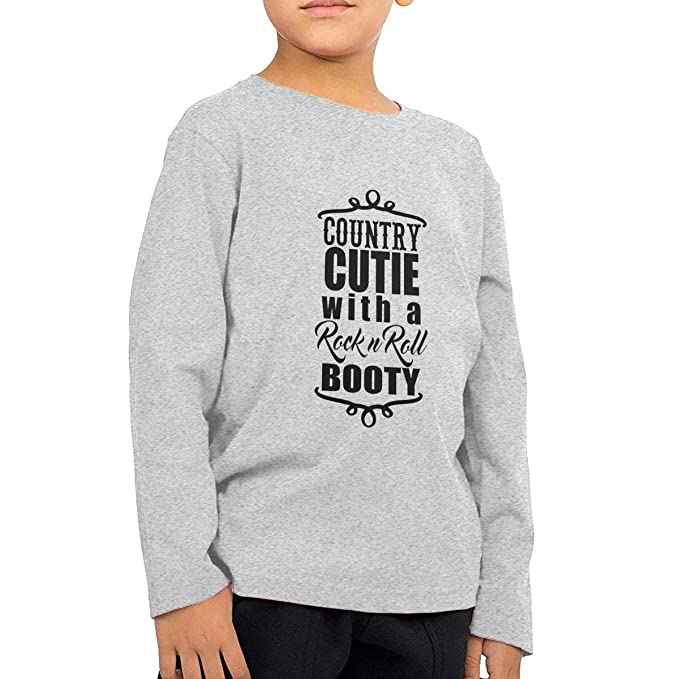 Amazon Com Country Cutie With Rock N Roll Booty Toddler Long Sleeve