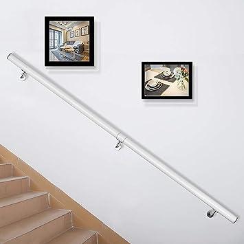 VEVOR Pasamanos Escalera 152 cm, Barandilla Escalera 152 cm, Pasamanos para Escaleras, Pasamanos de Pared, Montaje en Pared, de Aluminio, Color Blanco, para Escaleras Interiores y Exteriores, Loft: Amazon.es: Bricolaje y herramientas