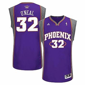 Adidas Shaquille O Neal Phoenix Suns NBA Hombres Camiseta de Jersey Morado, S,