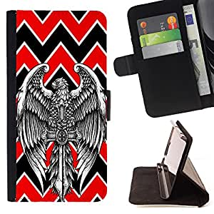 Dragon Case - FOR HTC Desire 820 - ?Because of you - Caja de la carpeta del caso en folio de cuero del tir¨®n de la cubierta protectora Shell