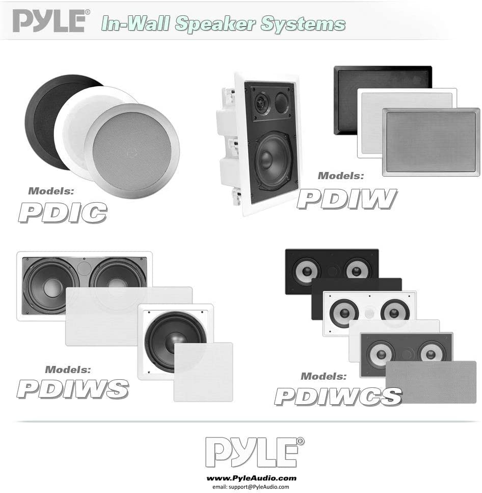 Pyle PDIC60 altoparlante 125 W Bianco