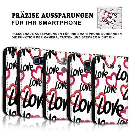 Wallet Book Style Flip Handy Tasche Case Schutz Hülle Schale Motiv Etui für Apple iPhone 4 / 4S - Design Flip MVD119