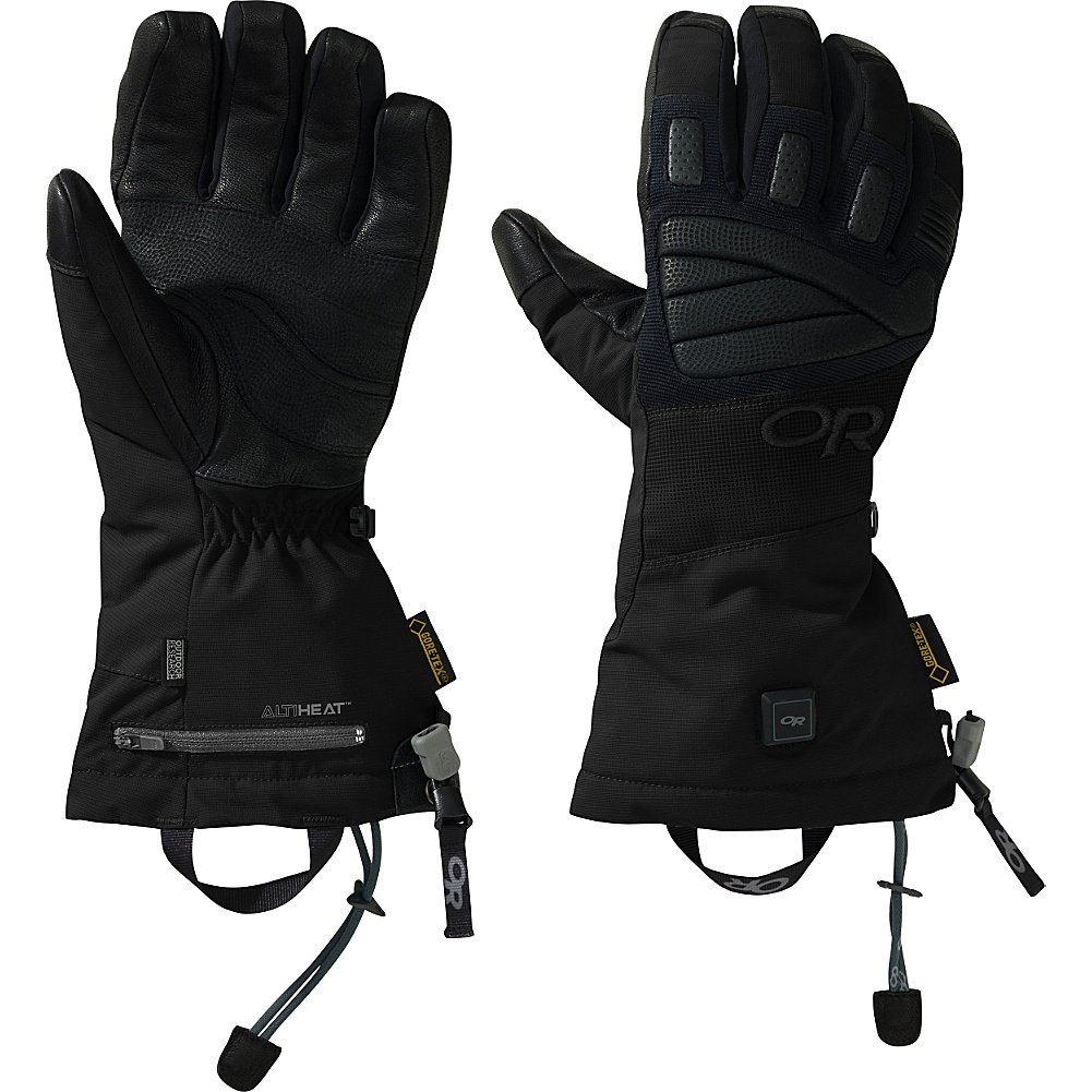 Outdoor Research Lucent Heated Gloves, Black, Medium