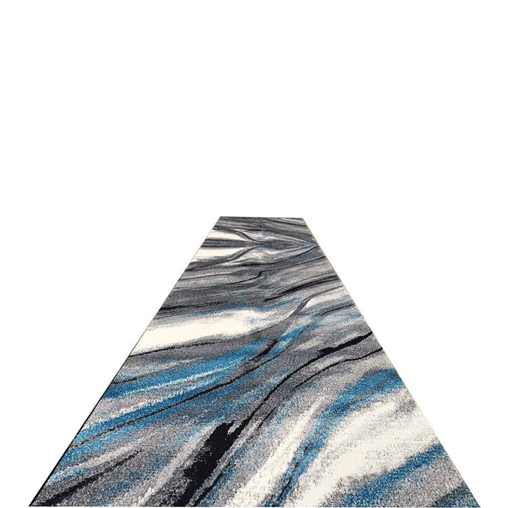 A LYQZ La Longue Absorption de l'eau antidérapante de Tapis de Couloir de Polyester du Tapis 3D, diverses Tailles, Longueur Peut être adaptée aux Besoins du Client (Couleur   A, Taille   120  150cm) 80200cm