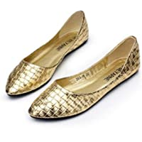 Women Casual Flats Pointed Toe Moccasins Shoes Moccasins Ballet Flats Flat Loafers Pump Shoes