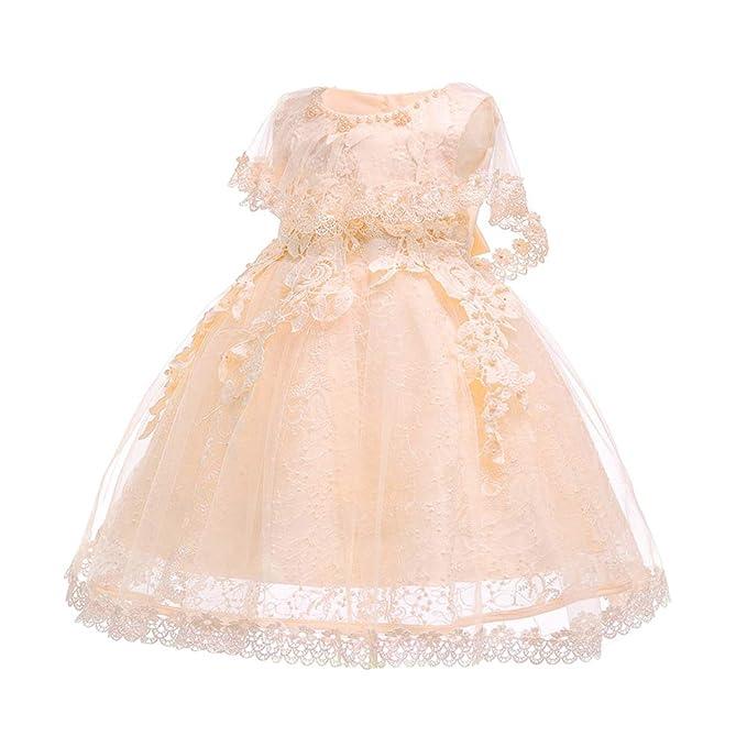 c9b05be382 XFentech Vestido De Princesa para Bebés - Vestido De Novia De Dama De Honor  De La Boda del Desfile De La Niña Bordada Lindo Vestido  Amazon.es  Ropa y  ...