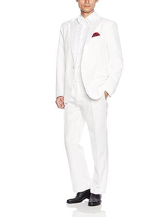 ca83a957e2b26 Amazon.co.jp: (アンダブル) AnW タキシード 白 衣装 司会 舞台 二次会 ...