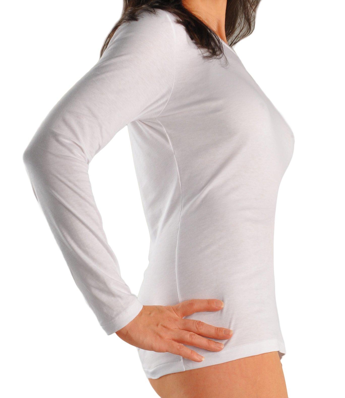 Zimmerli Certified Sea Island Crewneck Long Sleeve T-shirt XLarge/White