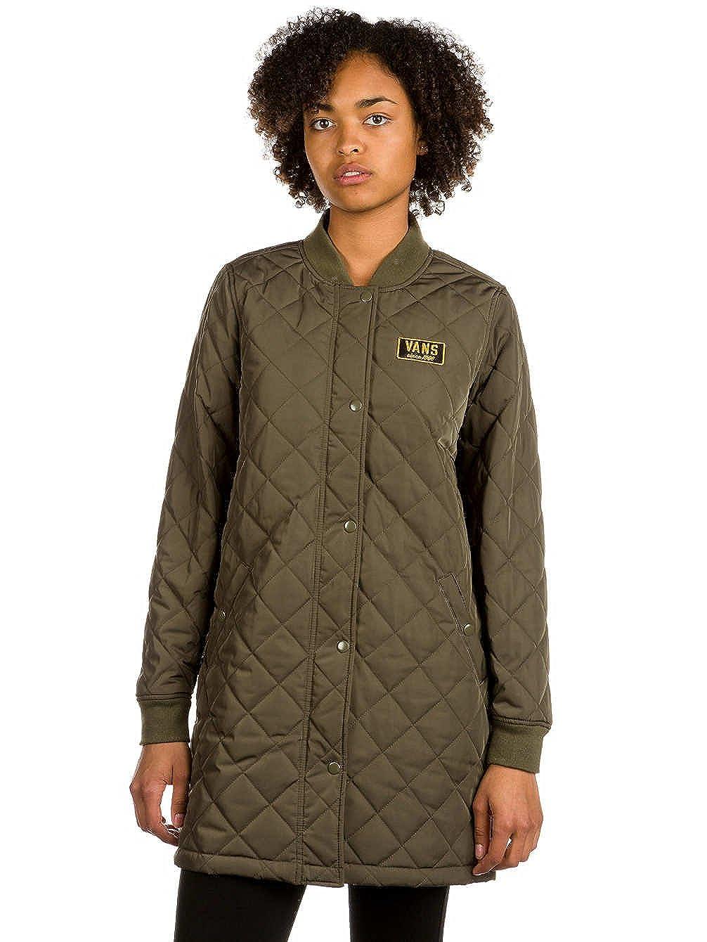 06f9e80119a64 Amazon.com: Vans Womens Boom Boom Quilted Coat Olive Green Jacket (L ...