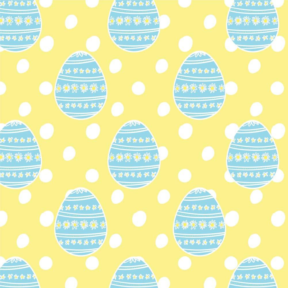GRAPHICS & MORE Cute Blue Easter Egg with Daisies Premium Roll Gift Wrap Wrapping Paper