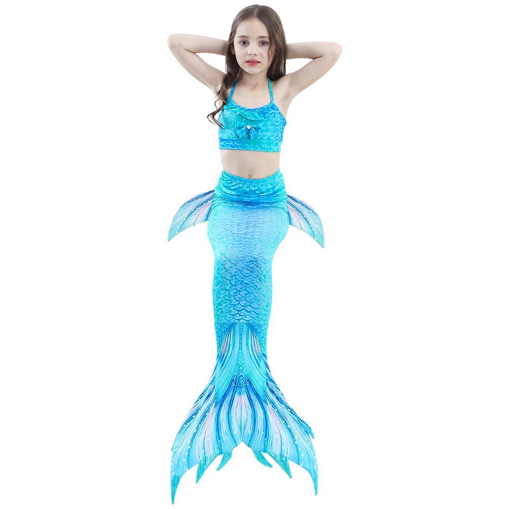 Modaka Traje de baño de la cola de la sirena para las muchachas 4PCS ...
