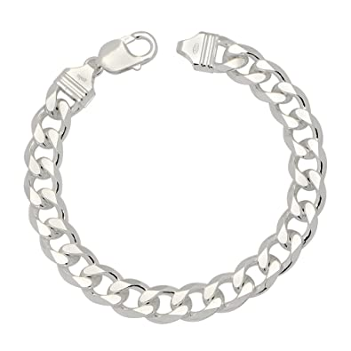 Amazon Com 10 4mm Mens Solid 925 Sterling Silver Cuban Link Curb