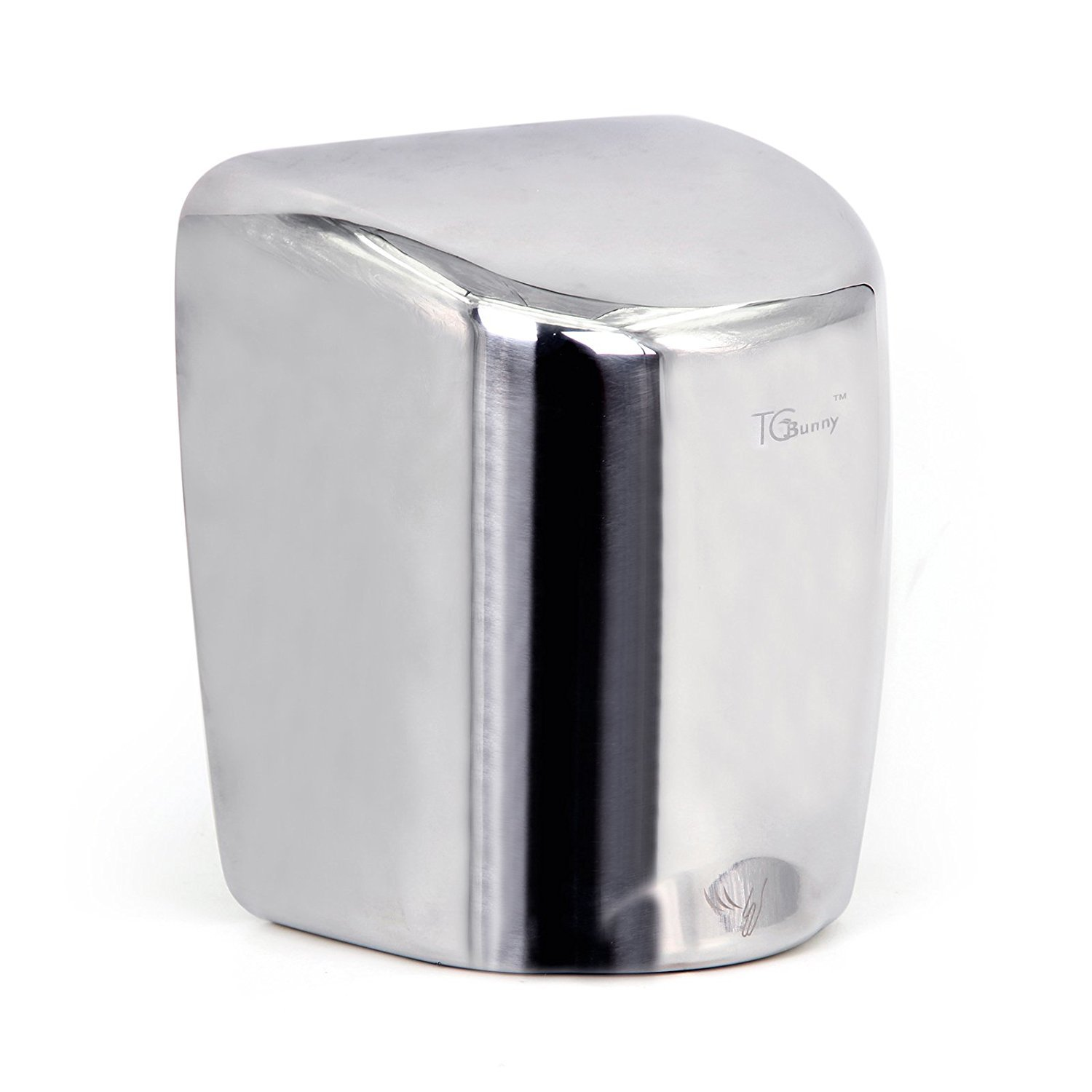 TCBunny (1 Pack) Heavy Duty 1800 Watts High Speed 90m/s Automatic Hot Commercial Hand Dryer - Stainless Stee