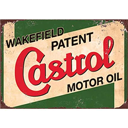 Easy Painter Castrol Motor Oil Metal Poster Vintage Tin Signs,Gas Station  Signs Vintage Oil Signs Garage Wall Decor 20x30cm