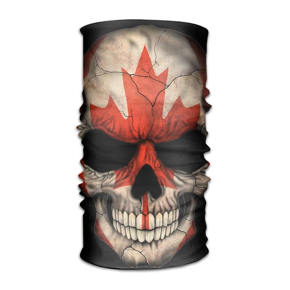 Varina the skull of the canadian flag headwear bandanas seamless headscarf outdoor sport headdress running riding skiing hiking headbands amazon ca