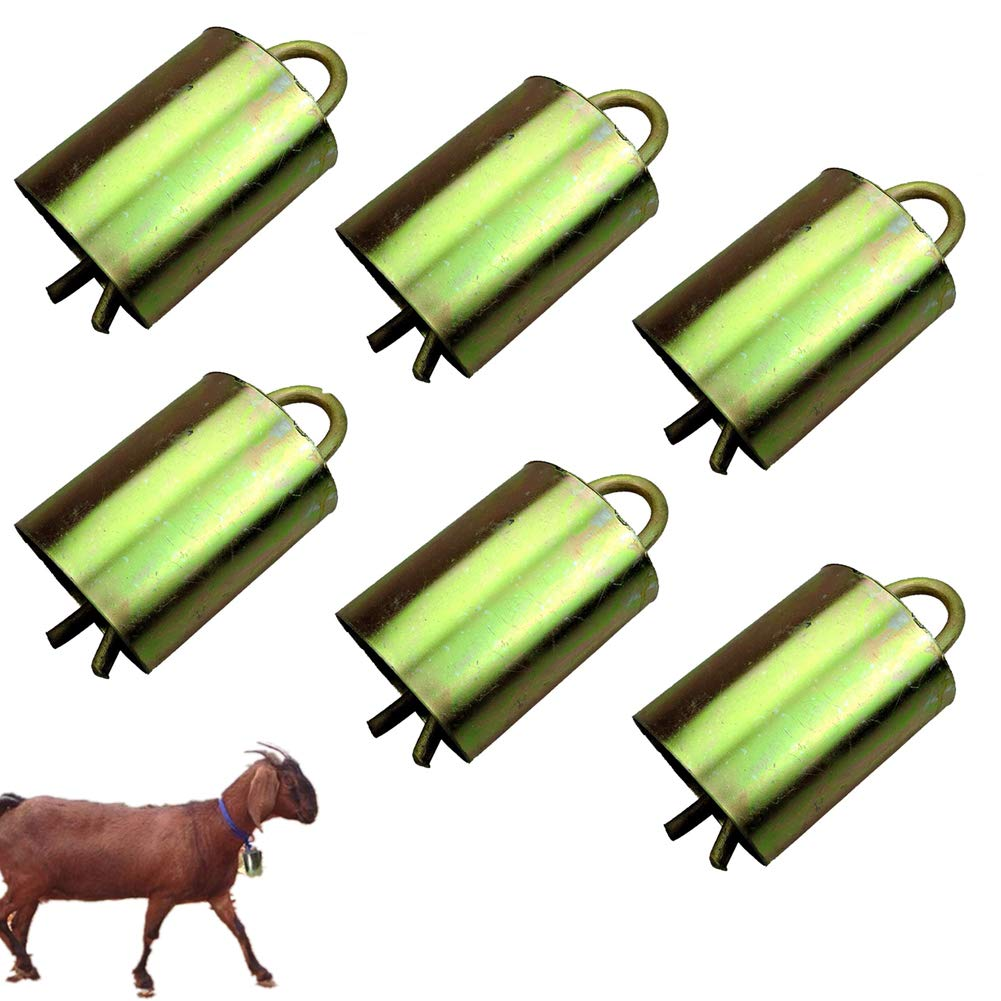 6Pcs Cow Horse Sheep Grazing Bell Prevent The Loss For Farm Animal Dog,A,XL by AZLZM