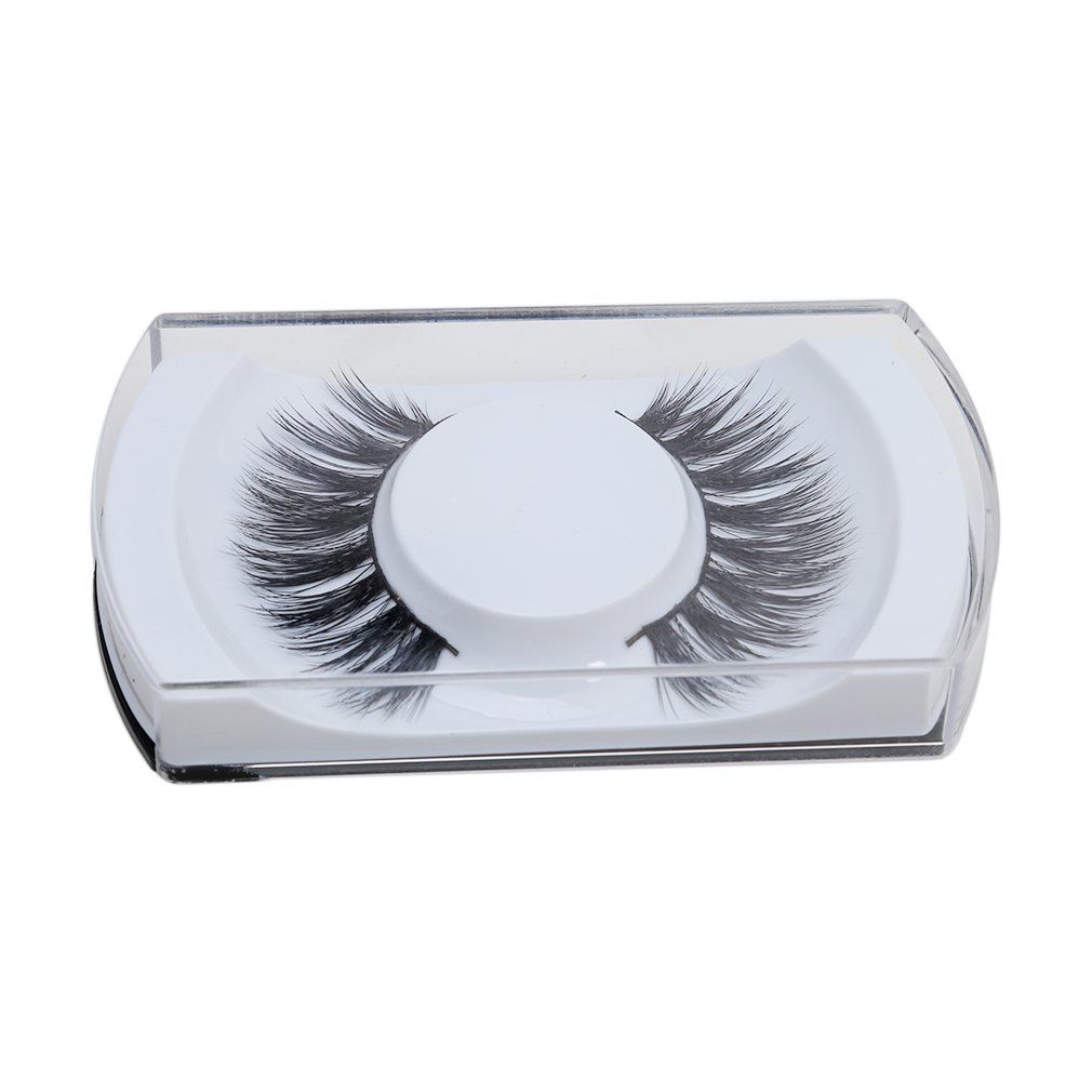 VWH 1Pair Fake Eyelashes Natural Thick False Eye Lashes Makeup Extension With Case Yingwei