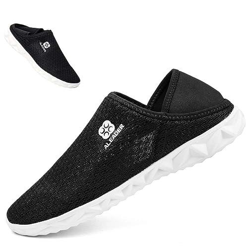 Aleader - Zapatillas para Hombre y Mujer, Transpirables, de Verano, con Zapatillas Planas