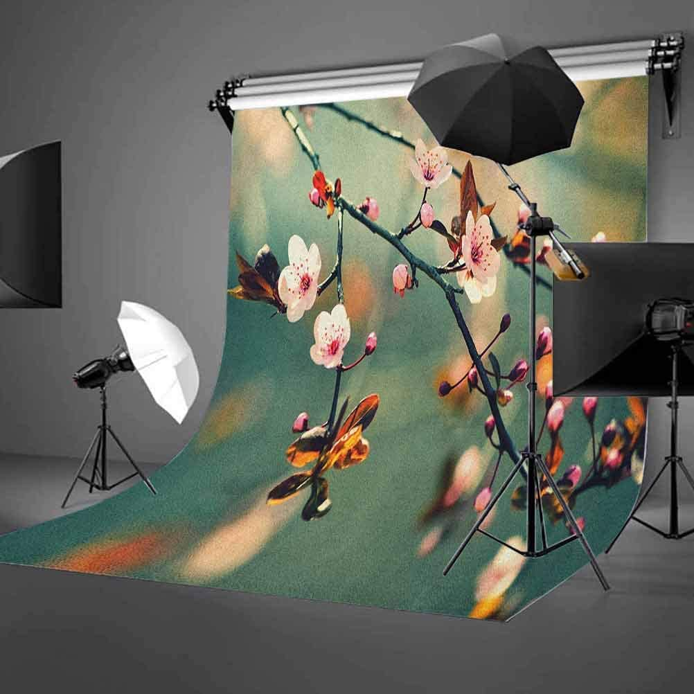 7x10 FT Floral Vinyl Photography Background Backdrops,Vivid Colored European Traditional Khokhloma Art Style Floral Pattern Image Background for Photo Backdrop Studio Props Photo Backdrop Wall