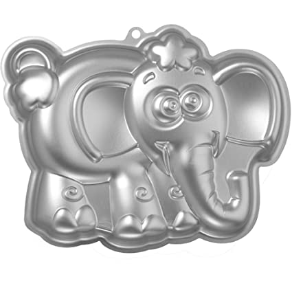 Elephant Cake Pan Kids 3D First Birthday Animal Shaped Bbaby Mold Baby Shower Aluminum Alloy 10 Inch