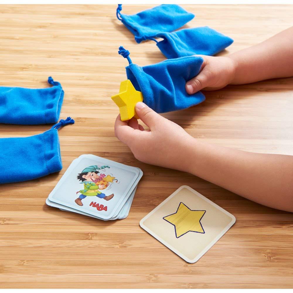 HABA 304508 Verf/ühlt nochmal! F/ühlspiel ab 3 Jahren transparent Lernspiel mit Holzteilen schult spielerisch die Feinmotorik