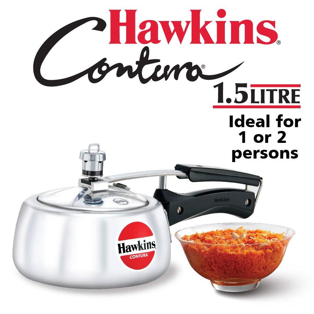Hawkins M15 Contura Aluminum Pressure Cooker, 1.5-Liter