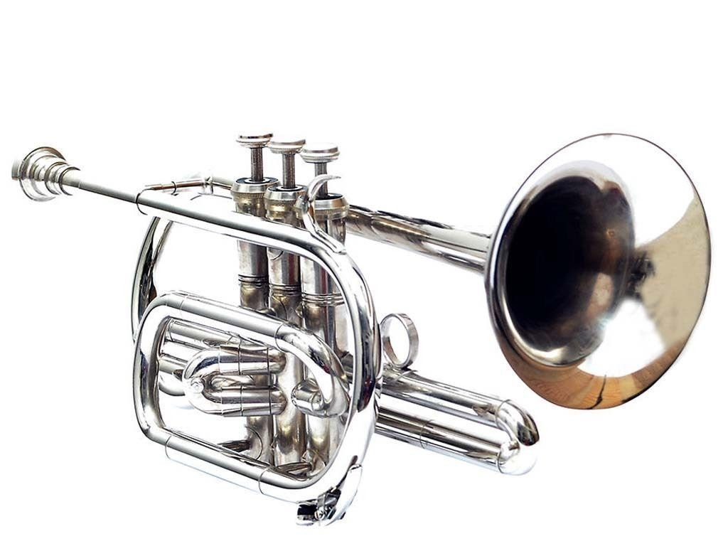 SHREYAS CORNET NICKLE CHROME PERFECT QUALITY WITH MOUTHPIECE AND BOX