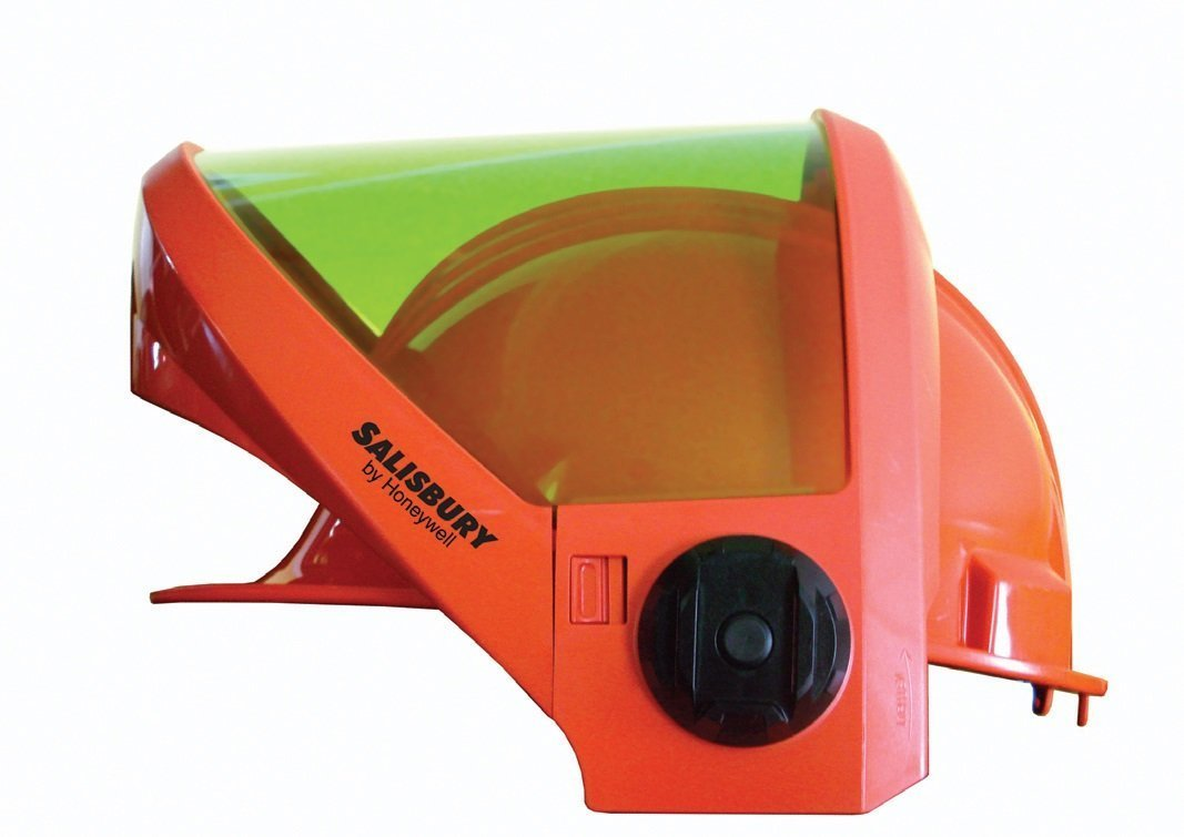 Honeywell AS1200HAT W H Salisbury Hard Cap with Ratchet Suspension, Chin Guard and AS1200 Series Arc Flash Face Shield, Orange by Salisbury