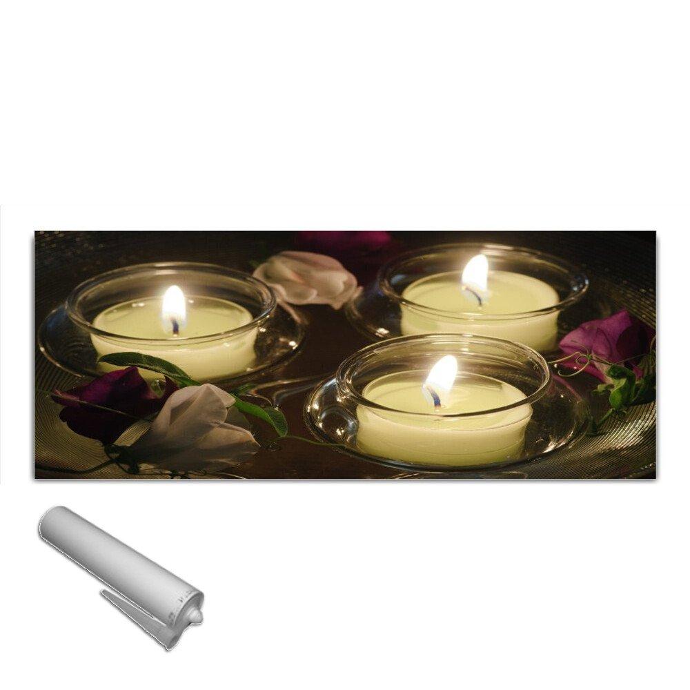 DekoGlas Küchenrückwand Glas 'Kerzen' Herdblende aus Sicherheitsglas (ESG) 125x50 cm Spritzschutz Fliesenspiegel
