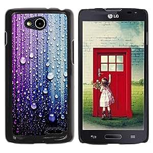 Paccase / SLIM PC / Aliminium Casa Carcasa Funda Case Cover para - Raindrop Purple Blue Droplet - LG OPTIMUS L90 / D415