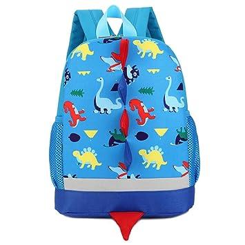 Fossen 3D Dinosaurio Mochilas Infantil Bolso Escolar para Niño Niña Primaria Guarderia (Azul): Amazon.es: Equipaje