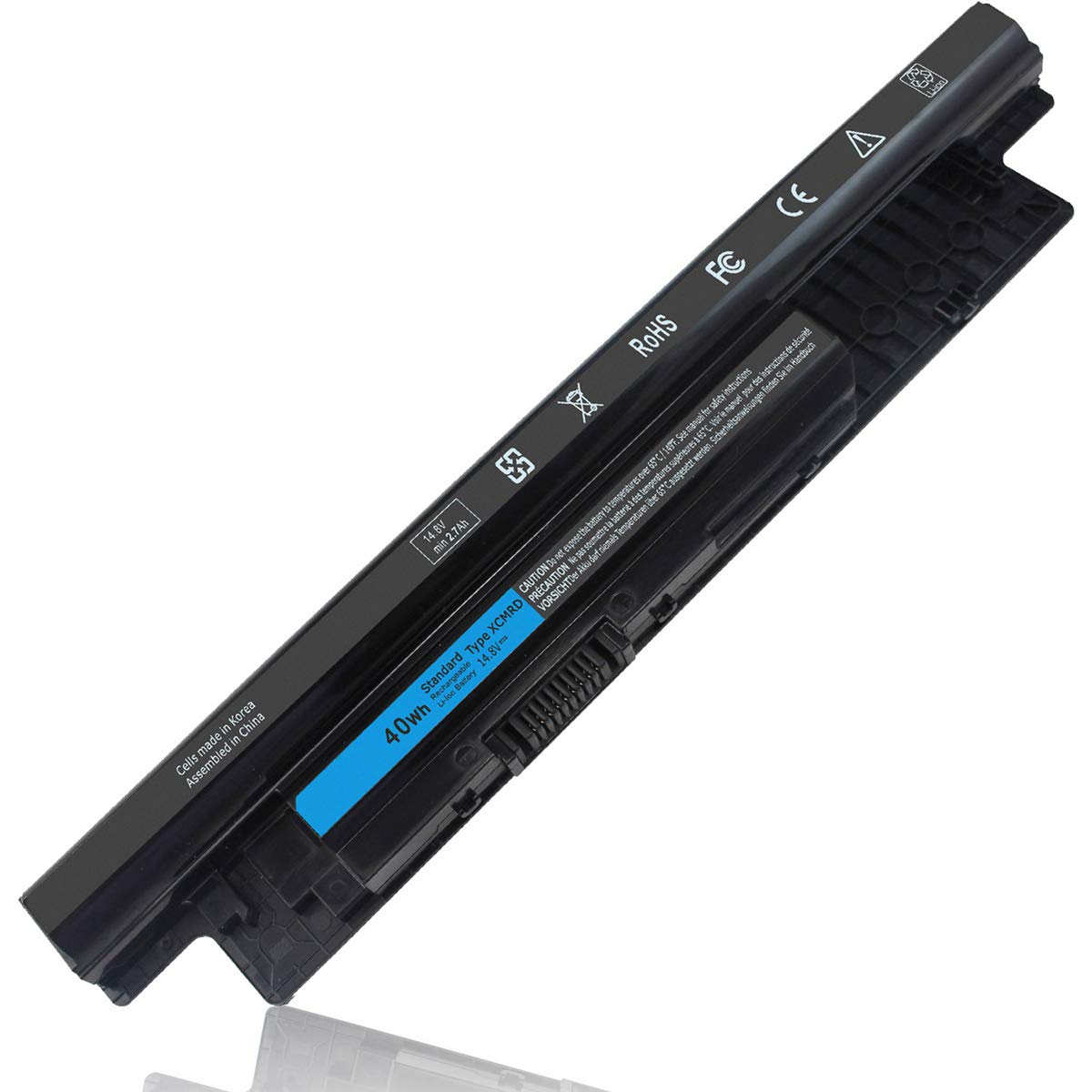 14.8V 40Wh XCMRD Battery Compatible with Dell Inspiron 15 3000 3542 3543 3531 3541 3521 3537 15R 5537 5521 17-3737 3721 17R-5737 14 3421 3437 14R 5421 5437 Latitude 3540 3440 P28F Vostro 2521 2421