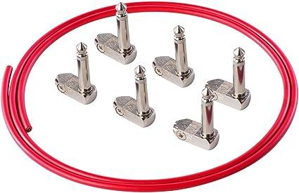 Rayzm Kit de cable para guitarra/baja pedalera de automontaje sin ...