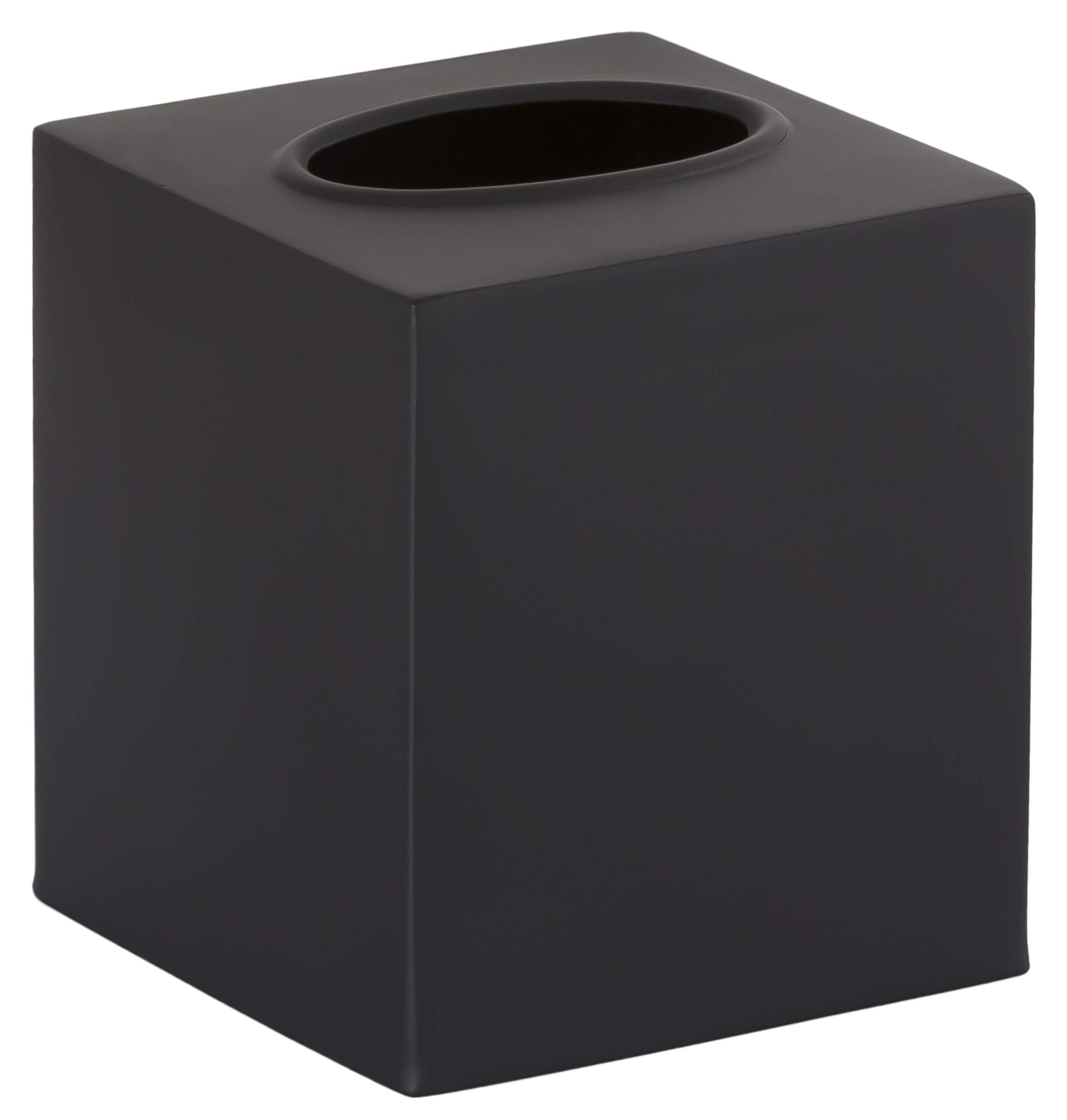 Gramercy Accents, Heavyweight Brass, Matte Black Finish, Boutique Tissue Box Cover, 4.75 Inches by 5.5 Inches