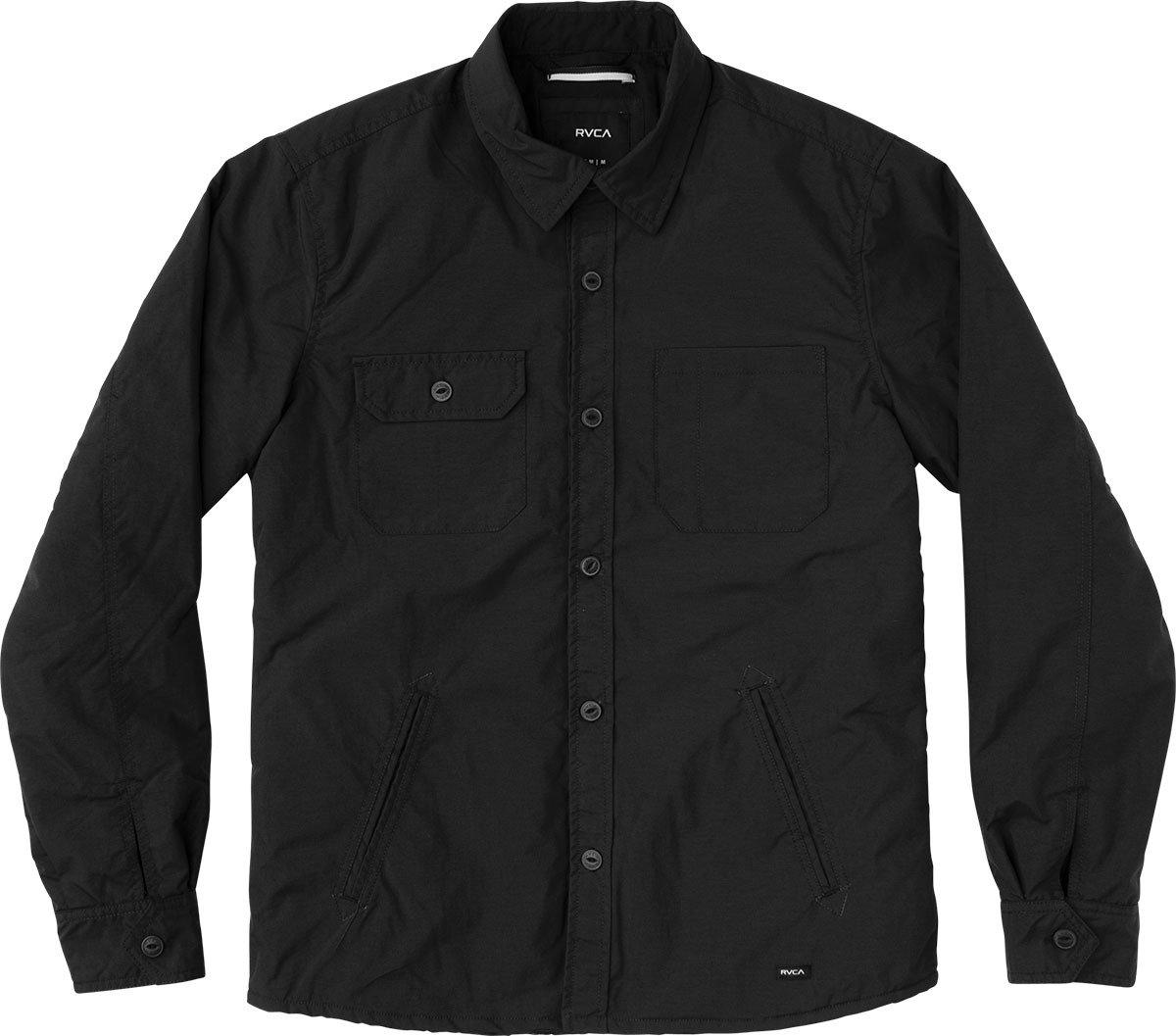 RVCA Men's CPO Shirt Jacket, Black, Large
