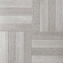 Achim Imports FTVWD23145 Achim Home Imports Tivoli Ash Grey Wood 12 inch x 12 inch Self Adhesive Vinyl Floor Tile #231,