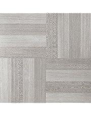 Achim Imports FTVWD23145 Achim Home Imports Tivoli Ash Grey Wood 12 inch x 12 inch Self Adhesive Vinyl Floor Tile #231, 45 Piece