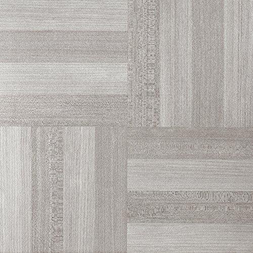 Achim Imports FTVWD23145 Achim Home Imports Tivoli Ash Grey Wood 12 inch x 12 inch Self Adhesive Vinyl Floor Tile (Ash Flooring)