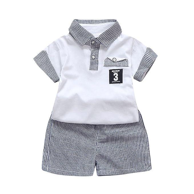 Conjunto de ropa de camisa para niños y bebés, con botones y ...