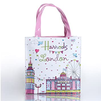 Amazon.com: Harrods Londres ferry-wheel rosa blanco PVC ...