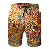 Adults Funny Weird Pattern Swim Trunks Elastic Waist Quick Dry Board Shorts
