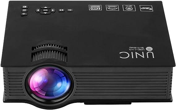 UNIC UC46+ HD Proyector 1080P Duplicacion de Pantalla Movil PC por ...